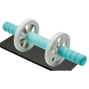 エレコム 筋トレ 器具 腹筋ローラー ワイド 上級者向け エクリアスポーツ HCF-ARWBUL 代引不可