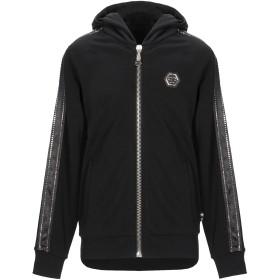 《期間限定セール開催中!》PHILIPP PLEIN メンズ スウェットシャツ ブラック L コットン 100% / ポリウレタン