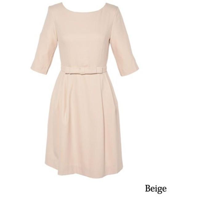 [マルイ]【セール】ワンピース ドレス[パーティードレス 結婚式 お呼ばれ スカート フォーマル 袖あり]/クリーム(C.R.E.A.M)