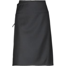 《期間限定 セール開催中》SLX519 レディース ひざ丈スカート ブラック L ウール 100%
