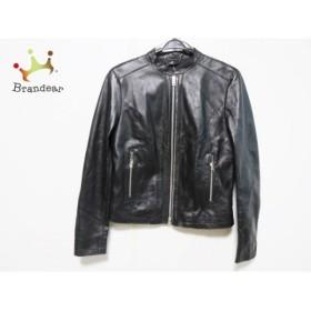 リプレイ Replay ライダースジャケット サイズXS レディース 黒 レザー/冬物  値下げ 20191019