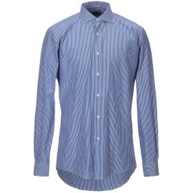 《送料無料》MASSIMO BRUNELLI メンズ シャツ ブルー 43 コットン 100%