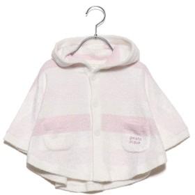 ジェラートピケ gelato pique 【BABY】スムーズィーグラデーションボーダー baby ポンチョ (ピンク)