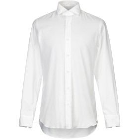 《期間限定セール開催中!》SALVATORE PICCOLO メンズ シャツ ホワイト 41 コットン 100%