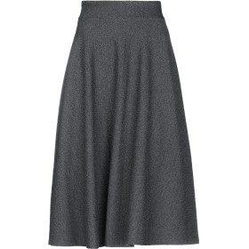 《セール開催中》LANACAPRINA レディース 7分丈スカート グレー 42 ポリエステル 88% / Lurex 10% / ポリウレタン 2%