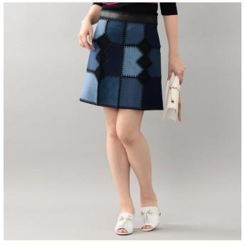 【23%OFF】 ラブレス WOMENS カラーブロックインディゴスカート レディース サックスブルー 36 【LOVELESS】 【セール開催中】