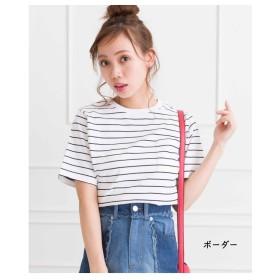 スプレイ SpRay ポケ付クルーネックTシャツ (ボーダー)