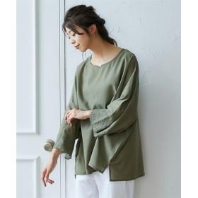 袖スカラップ刺しゅうチュニック (ブラウス)Blouses, Shirts, 衫, 襯衫