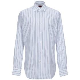 《セール開催中》ISAIA メンズ シャツ ホワイト 38 コットン 100%