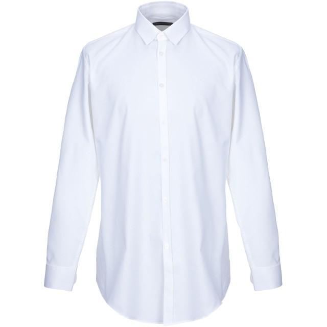 《セール開催中》DANIELE ALESSANDRINI メンズ シャツ ホワイト 38 コットン 100%