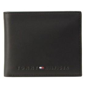 トミーヒルフィガー TOMMY HILFIGER メンズ 二つ折り財布 ブラック レザー 31tl25x005-001
