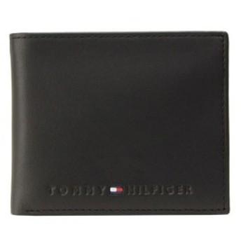 【400円OFFクーポン対象】トミーヒルフィガー TOMMY HILFIGER メンズ 二つ折り財布 ブラック レザー 31tl25x005-001 big_ac