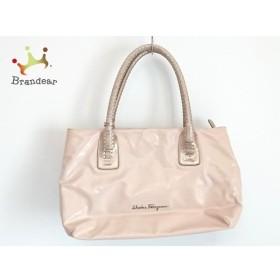 サルバトーレフェラガモ ハンドバッグ - ピンク×ゴールド PVC(塩化ビニール)×レザー 新着 20190606