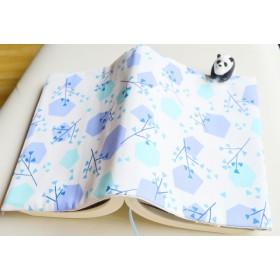 美しい青い木design〉単行本サイズ♪ブックカバー
