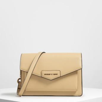 フロントフラップ クロスボディバッグ / Front Flap Crossbody Bag (Yellow)