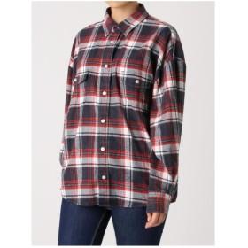 ジェイダ GYDA ビンテージタータンチェックシャツ (ネイビー)