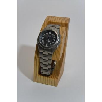 無垢の松で作った腕時計スタンド