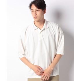 【67%OFF】 ウィゴー WEGO/カラーラインビッグ5分袖ポロシャツ メンズ ホワイト系 M 【WEGO】 【タイムセール開催中】