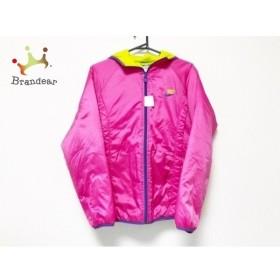 673cb04bcc0b4e ナイキ ブルゾン サイズM レディース 美品 ピンク×パープル×ライトグリーン 中綿/春