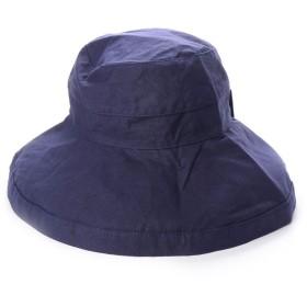 スカラ SCALA レディースUVカット帽子LC399R GIANA BOW (ネイビー)