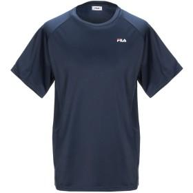 《セール開催中》FILA メンズ T シャツ ダークブルー M ポリエステル 100%