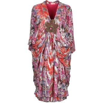 《セール開催中》OTT レディース ミニワンピース&ドレス フューシャ XL シルク 100%