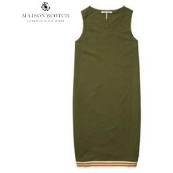 メゾンスコッチ MAISON SCOTCH 正規販売店 レディース ワンピース RAW EDGE DETAILS SWEAT DRESS 137423 15 ARMY
