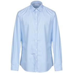 《期間限定セール開催中!》AGLINI メンズ シャツ スカイブルー 45 コットン 100%