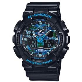 【G-SHOCK】ブルーカモフラージュ / GA-100CB-1AJF (ブラック×ブルー)
