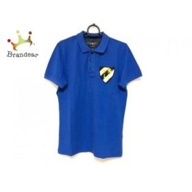 ハイドロゲン HYDROGEN 半袖ポロシャツ サイズS メンズ ブルー×マルチ   スペシャル特価 20190906