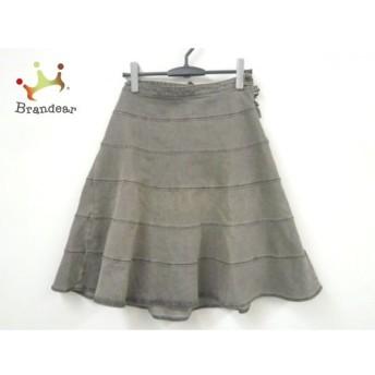 トゥービーシック スカート サイズ40 M レディース グレー×ダークグレー リボン/ビーズ 値下げ 20190908