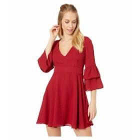 ビービーダコタ レディース ワンピース トップス Always Classy Ruffle Sleeve Dress Rouge