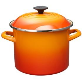 Le creuset ストックポット20cm○92100020090000 オレンジ 鍋