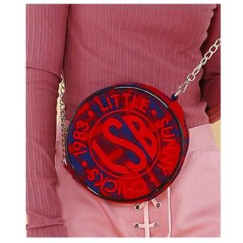 little sunny bite LSBstitchedsymbolicbag/ロゴ刺繍バッグ RED/CK