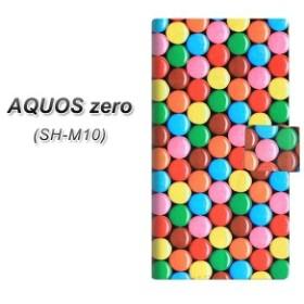 メール便送料無料 simフリー AQUOS zero SH-M10 手帳型スマホケース 【 448 マーブルチョコ 】横開き (simフリー アクオス ゼロ SH-M10/S