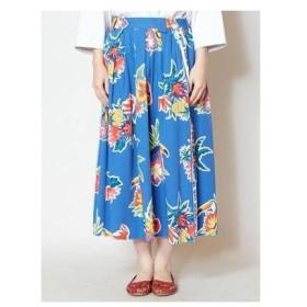 【チャイハネ】メキシカンフラワースカート ブルー