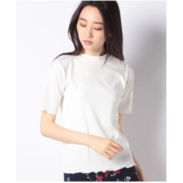 GIORDANOL [GIORDANO]リブメロウハイネックTシャツ(ホワイト)【返品不可商品】