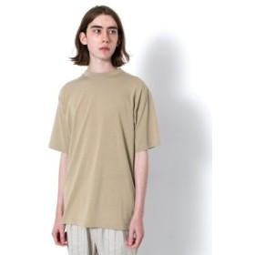 (SENSE OF PLACE/センスオブプレイス)バックフォトプリントTシャツ(5分袖)/メンズ BEIGE