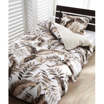 綿100%二重ガーゼのボタニカル柄カバーセット(枕カバー。掛け布団カバー) 布団カバーセット