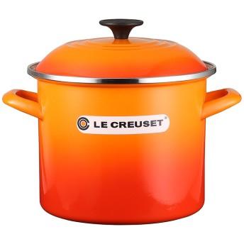 Le creuset ストックポット 20cm○56000060900003 オレンジ 鍋