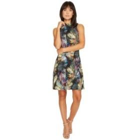 カレンケーン レディース ワンピース トップス Sleeveless Mock Neck Dress Print