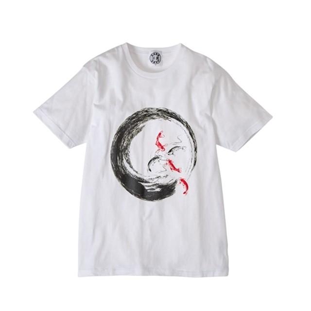 浮雲 和柄鯉プリント半袖Tシャツ Tシャツ・カットソー