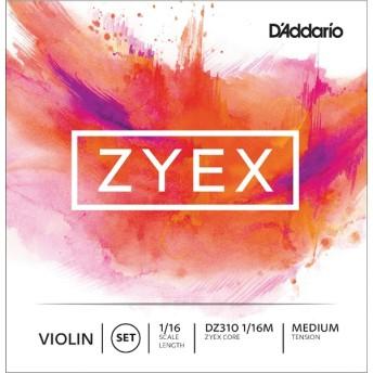 バイオリン弦 ZYEXセット DZ310 1/16M ZYEX SET MED ミディアム