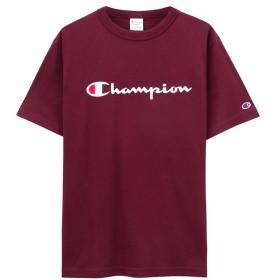 マックハウス Champion チャンピオン プリントTシャツ C3 P302 メンズ ワイン L 【MAC HOUSE】