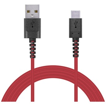 ELECOM MPA-ACS20NRD 高耐久USBケーブル タイプC 2m レッド(赤) USB充電・データ転送ケーブル