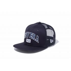 【ニューエラ公式】キッズ 9FIFTY トラッカー ベーシック ファブリック ニューエラ 1920 ネイビー 男の子 女の子 49.2 - 53cm キャップ 帽子 11899143 NEW ERA メッシュキャップ