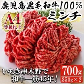 鹿児島県産黒毛和牛100%ミンチ(約350g×2パック・約700g)