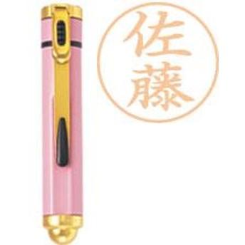 シャチハタ ネームエル 【ボディ色:ピンク】(既製品):「磯貝」