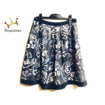 トゥービーシック スカート サイズ42 L レディース 美品 ダークグレー×アイボリー×マルチ スペシャル特価 20190909