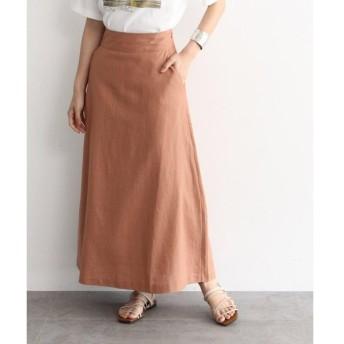 OZOC / オゾック [洗える]麻混Aラインマキシスカート